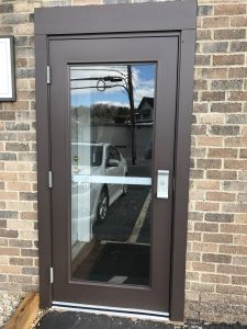 Commercial Steel Entry Door with Safety Glass